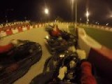 GoKart Driver Gets Slammed After Cutting Off Other Driver