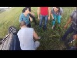 Good Samaritans Help Man At Accident Scene