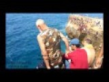 Grandpa 75 Years Old Cliff Jumping