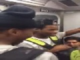 Guy Disrespects Asian Woman On A Train