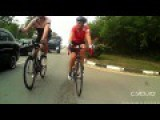 Guy Brake Checks A Couple Of Lane Hogging Cyclists