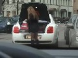 Girl On Bentley