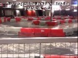 GoKart Driver Takes Out Wall