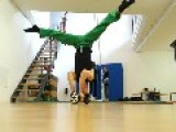 Guy Performs Headstand On Swegway