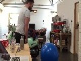 Guy Attempts To Fall On Yoga Ball
