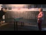 Grandma Takes A Ping Pong Ball To The Eye
