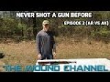 Guy: Never Shot A Gun Before AR15 Vs AK47