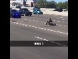 Guy Successfully Evades The Cops In A Go Kart