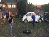 Girls Get Hit In Face With Tetherball