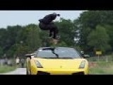 Guy Jumps Over Speeding Lamborghini 80 Mph 130kmh