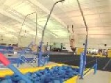Gymnast Flies Off Ring And Dives Through Hole