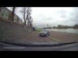 German Audi Fails To See One Way Sign