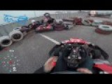 Girl Tries Her Luck At Go Kart Racing