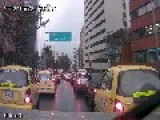 Going Through Bogota's Heavy Traffic Aboard In An Ambulance, Rescue