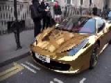 Gold-plated Ferrari