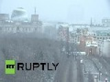 Germany: Time-lapse Shows Berlin Blanketed In Snow
