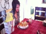 Girl's Hair Catches On Fire While Blowing Out Candles