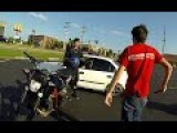 Guy Chases Motorcycle Thief - Confronts Him