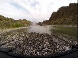 GoPro Video Of Driving In A River Valley In Oman After Heavy Rain