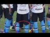 Gremio's Douglas Peed On The Maracana Before A Cup Match Vs Fluminense