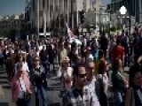 Greek Public Sector Protest Against Pension Reforms