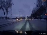 Guy Hits Entire Family On Russian Road