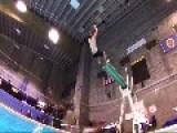Guy Lands On Back After Jumping High Dive