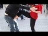 Girl Teen Gives Swift Kick To The Groin