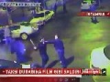Gang Brawl With Bats And Knives In A Taxi Station