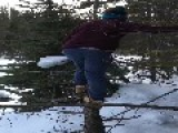 Guy Falls Off Broken Tree