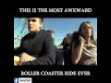 Guy Breaks Up With Girlfriend During Roller Coaster Ride.... AWKWARD