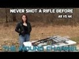 Girl: Never Shot A Gun Before AR15 Vs AK47