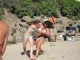 Girls In Bikini Fight At Creek