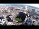 Helmet Cam View Of Navy SEALs Parachute Jumping Into Petco Park