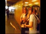 Happy Busker Trio In The Devonshire Pedestrian Tunnel,Sydney, Australia, 2.47 Min Video