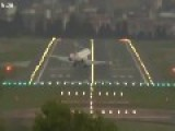 High Winds Shake Planes Landing In Bilbao Spain 11 12