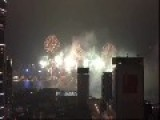 Hong Kong Celebrates New Year With Fireworks