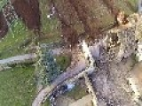 Huge Boulder Crushes Barn Shed And Second Almost Destroys House
