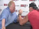 Hulk Hogan Arm Wrestles Toronto's Crack Mayor