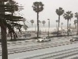 Hail Hits Huntington Beach