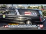 Hearse Stops For Coffee While Carrying Veteran