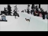 Half Naked Skier's Painful Backflip Fail