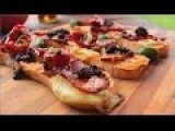 How To Make Bruschetta - Crostini Recipe - Somun Pica