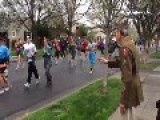 He Was Supposed To Be Cheering Them On, But What The Runners Did For This WWII Vet Is Incredible