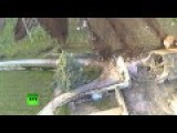 Huge Boulder Unleashed By A Landslide Narrowly Misses Farmhouse In Italy