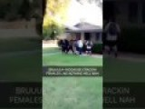 Hispanic, Hillary-Supporting Men Beat Up White Woman For Supporting Trump - In Her Own Front Yard! - Vertical Video