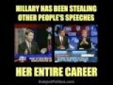 Hillary's Long History Of Plagiarizing Speeches