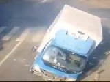 Horrible Accident Between Truck And Car, Cyclist Saves