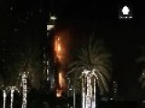 Huge Fire Engulfs Dubai Hotel Ahead Of New Year's Eve Fireworks Display