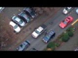 Helicopter View Of Hit+run Suspect.. Bike Cops To The Rescue!